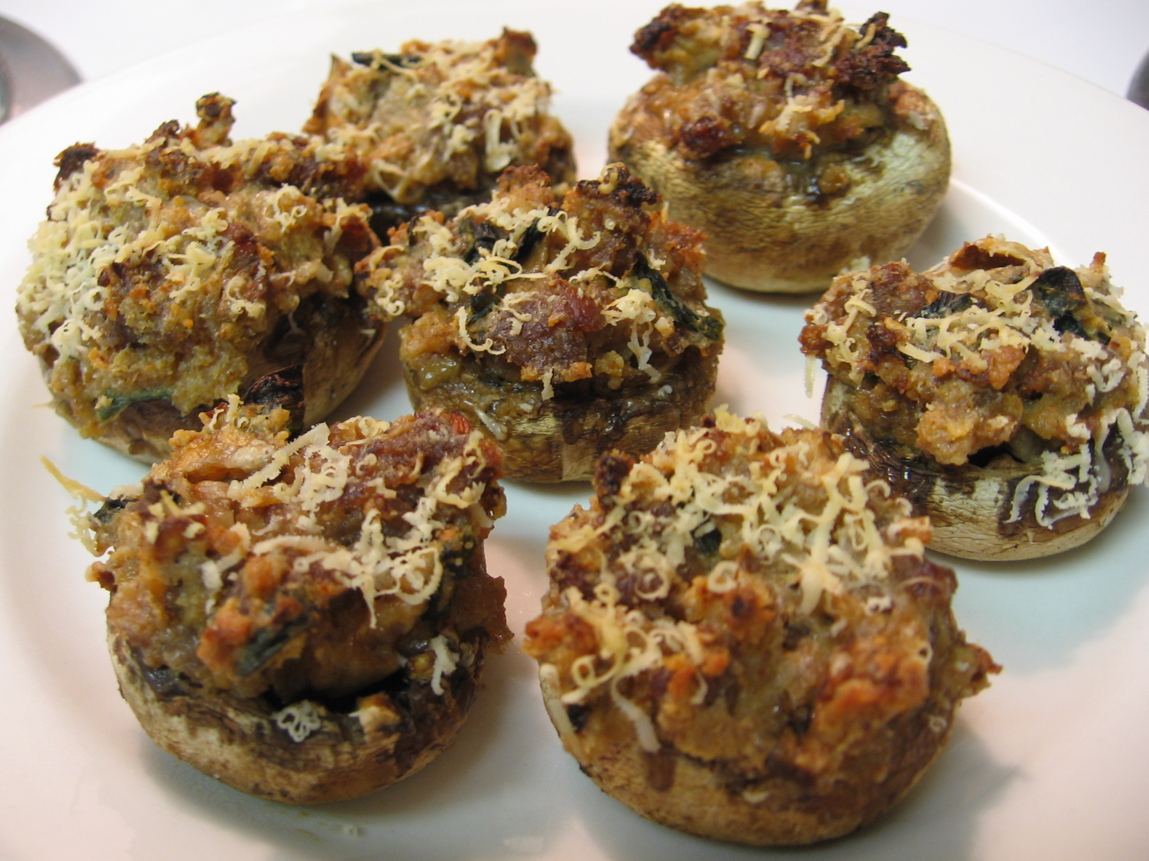 Spicy Sausage Stuffed Mushrooms Recipes — Dishmaps